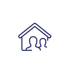 tenants line icon on white vector image
