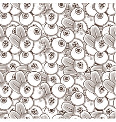 vintage cowberry seamless pattern vector image