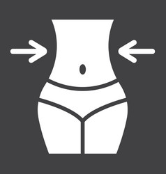 weight loss glyph icon fitness and sport vector image