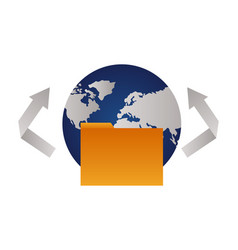 world folder file vector image
