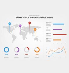 World map infographics element of chart graph vector