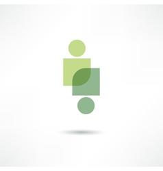 eco people icon vector image vector image