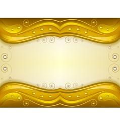 Fantasy golden background vector image vector image