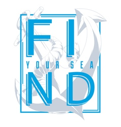 Find your sea vector image vector image