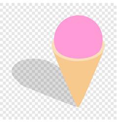 ice cream isometric icon vector image vector image