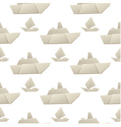 origami logistic paper boat transport seamless vector image