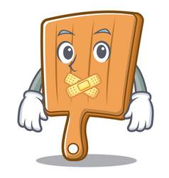 silent kitchen board character cartoon vector image