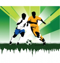 soccer forever vector image vector image