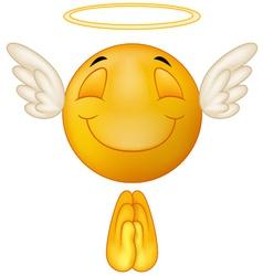 Angel emoticon vector image vector image
