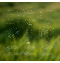 Architecture and design lettering Abstracr house vector image