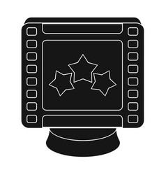 award in the form of a video tape for best actor vector image