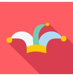 Clown hat icon flat style vector image