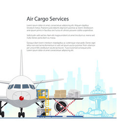 Flyer air cargo services and freight vector