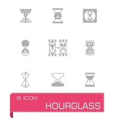 Hourglass icon set vector image