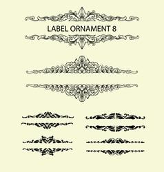 Label ornament 8 vector