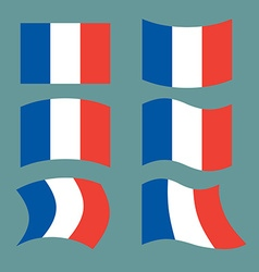 Flag of France Set national flag of French state vector image vector image