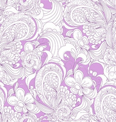 Gorgeous seamless floral background vector image vector image