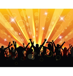 Happy young people vector image vector image