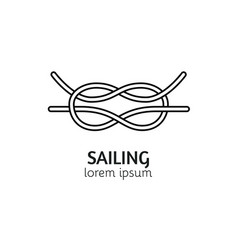 modern line style sea knot logotype template vector image