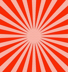 Retro Red Background with Rays vector image