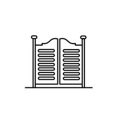 saloon doors icon vector image