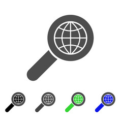 search globe place flat icon vector image