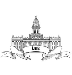 travel england great britainsign leeds city vector image vector image