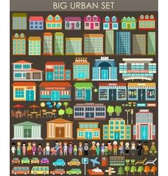 Big urban set vector image