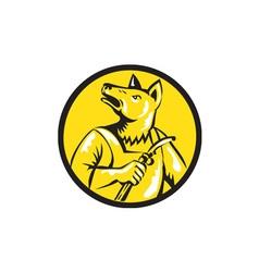 Dingo Dog Welder Circle Retro vector image vector image