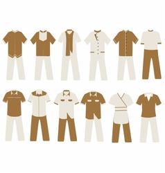 hotel and villa uniform vector image