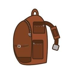 Packback pocket strap travel bag tourist vector