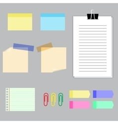 Paper banners with notes set vector image