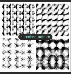 seamless patterns with halftone dots 1 vector image