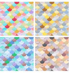 set abstract seamless patterns set japanese vector image vector image