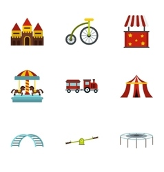 Swing icons set flat style vector