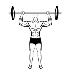 a man lifting a barbell athlete vector image