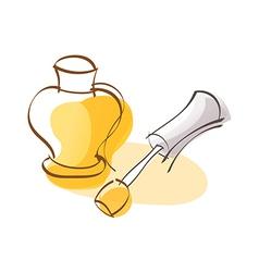 A nail polish vector