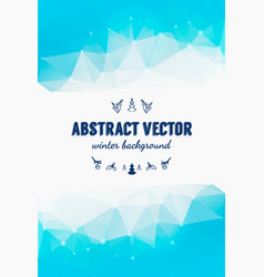 Abstract winter background christmas vector