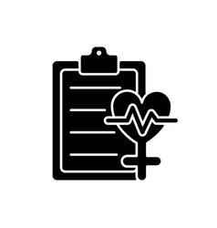 Access to healthcare black glyph icon vector