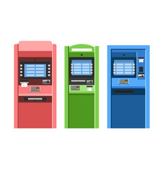 Atm machines set vector