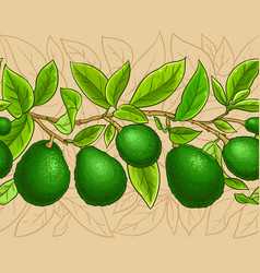 avocado branches pattern vector image