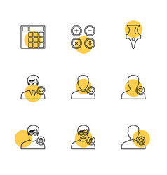 avtar user profile avatar eps icons set vector image