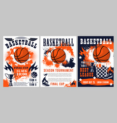 basketball sport league cup team tournament vector image