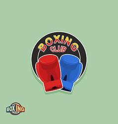 Boxing emblem Logo boxing Club vector image