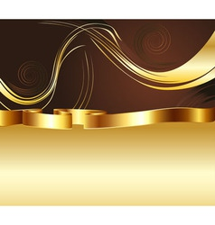 Brown and Gold Background2 vector image