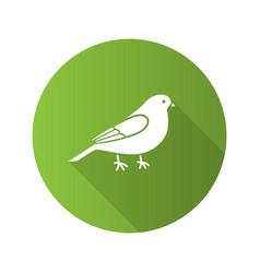 Canary flat design long shadow glyph icon vector