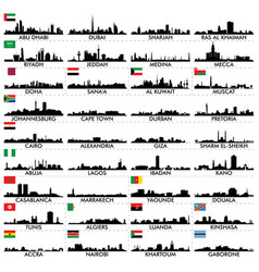 City skyline the arabian peninsula and africa vector