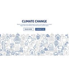 Climate change banner design vector