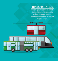 collection public transport service passenger vector image