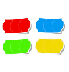 Color stikers tags special offer on white stock vector